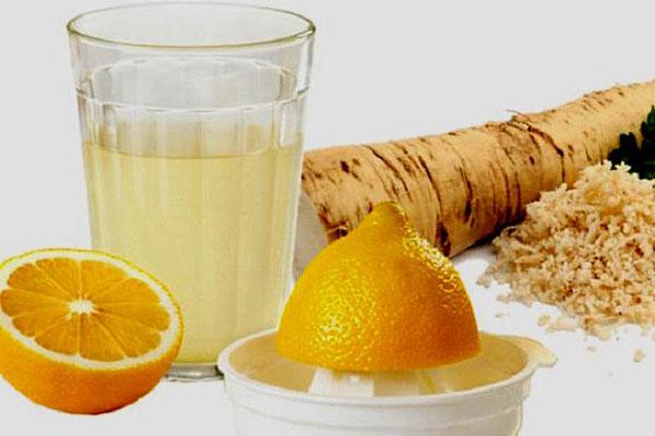 Хрін, лимон та мед