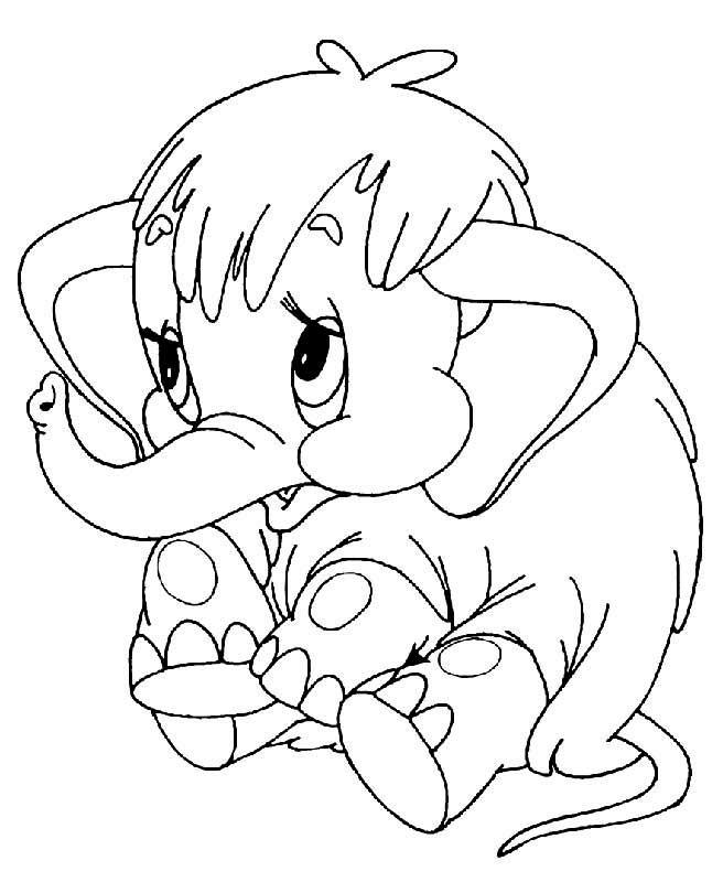 Розфарбовка слоник