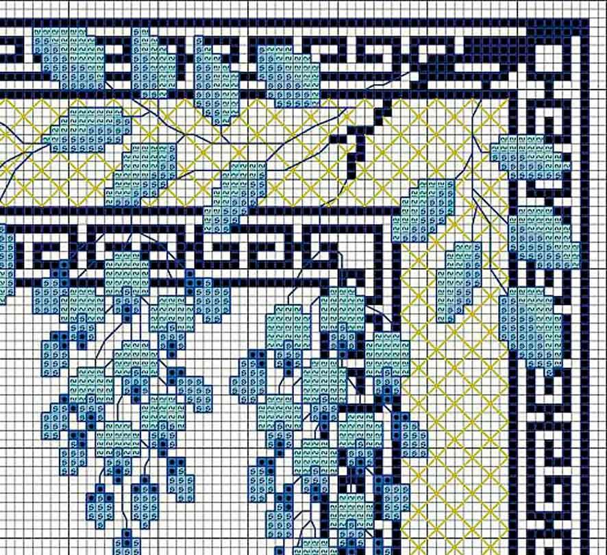 Вишивка «Синій дім»