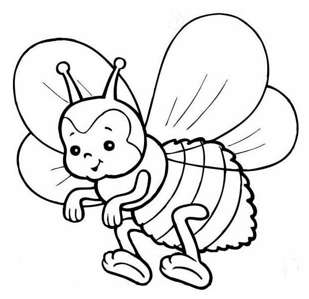 розмальовка бджілка