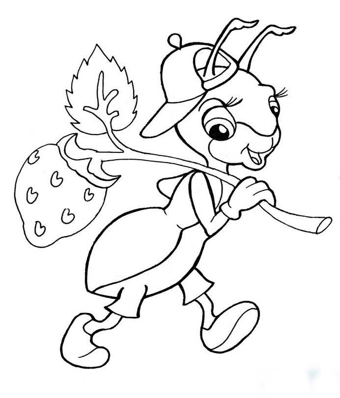 Розфарбуй мураху