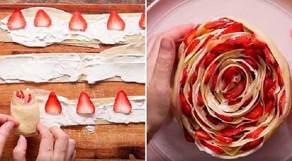 торт із полуницею