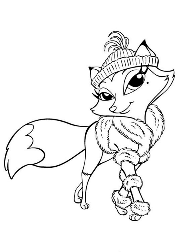 Розфарбуй лисичку