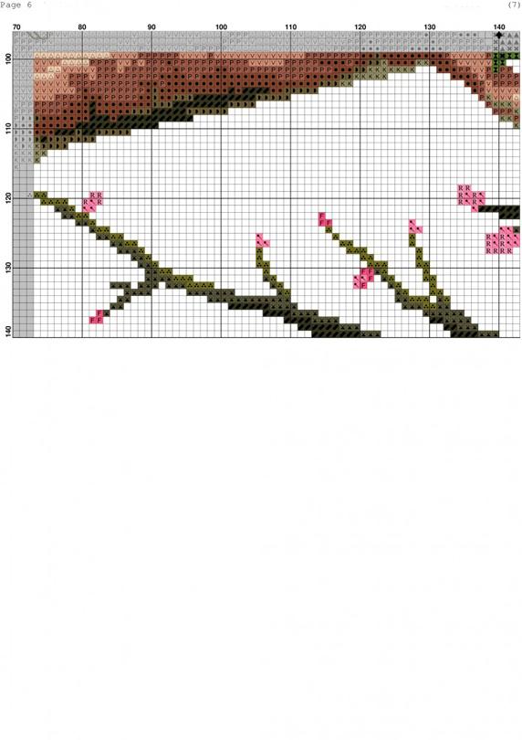 Вишивка «Абрикосове дерево»