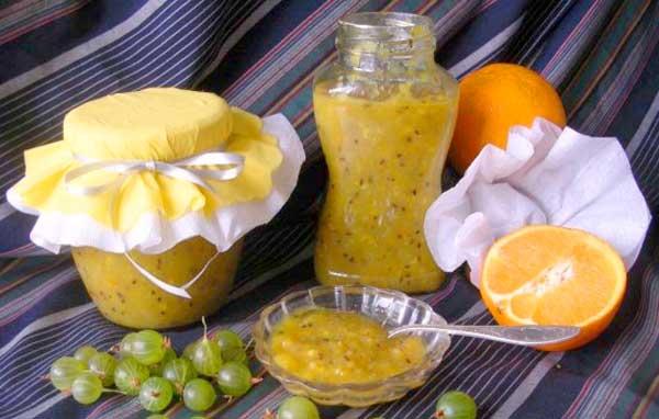 варенье з агруса і апельсина
