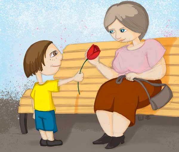 квітка для бабусі