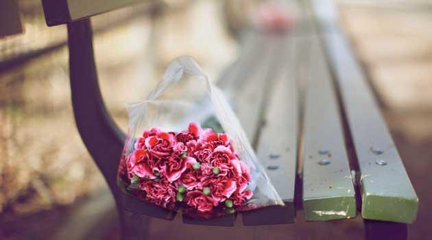 квіти на лаві
