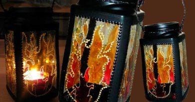Ліхтар з кавової банки