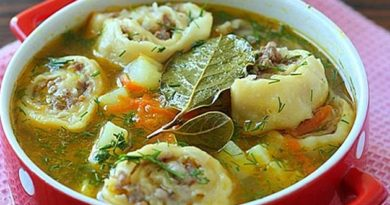 Суп із «лінивими» пельменями