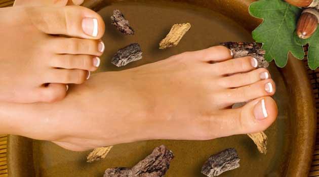 ваночки для ніг з віддваром кори дуба