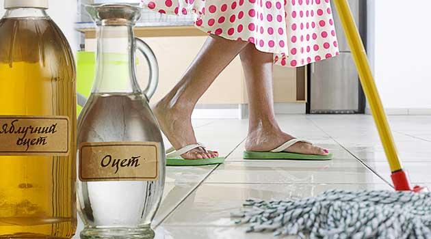 Миття підлоги з оцтом