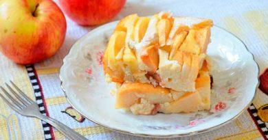 Сирно-яблучна запіканка