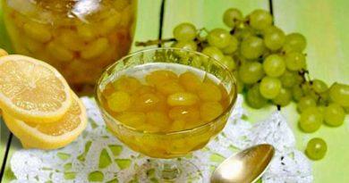 Виноградне варення з лимоном