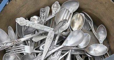 Як почистити столове срібло