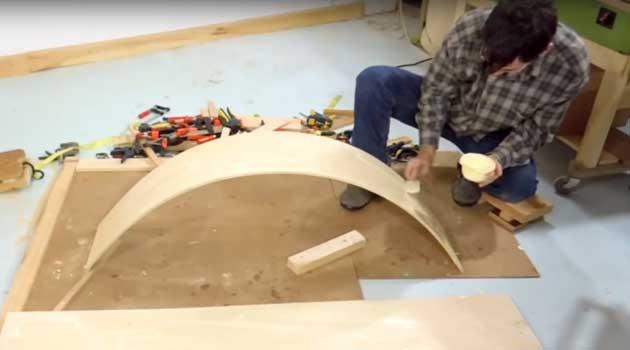Як зігнути фанеру без тріщин