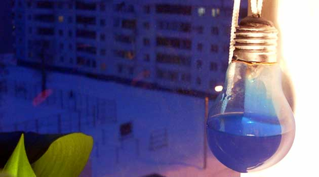 Барометр із лампочки