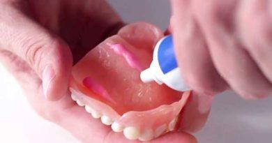 Чи шкідливий крем для зубних протезів