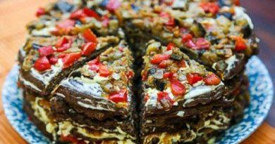 Печінковий торт з баклажанами