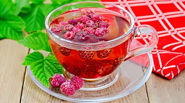 чай з малиною
