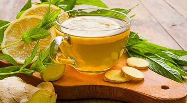 чай з лимоном і імбиром