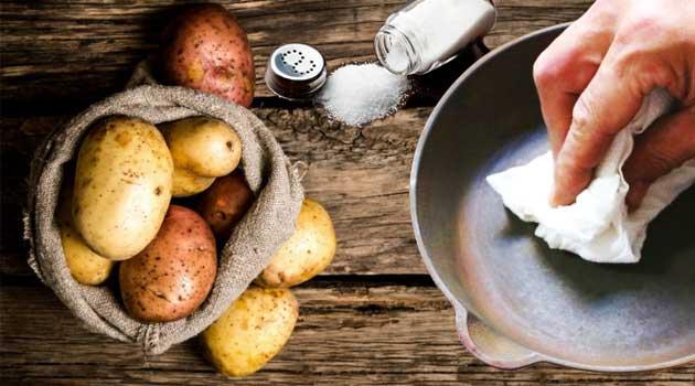 Як видалити іржу картоплею і сіллю
