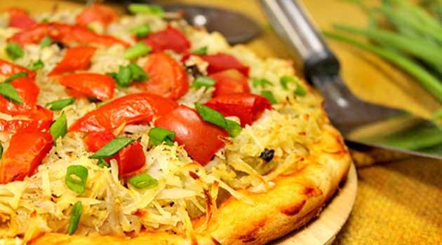 Пісна піца з картоплею