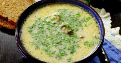 Суп із курячих сердець із грибами