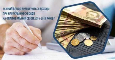 За який період враховуються доходи при нарахуванні субсидії