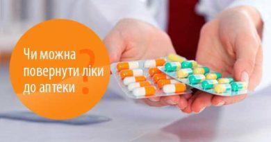 Чи можна повернути ліки до аптеки