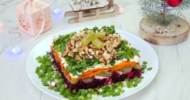 Салат із виноградом і горіхами