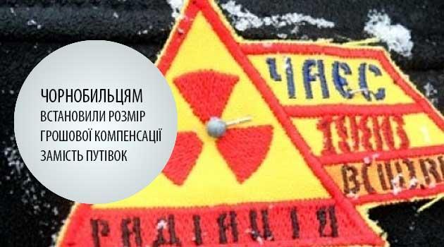 Чорнобильцям встановили розмір грошової компенсації замість путівок