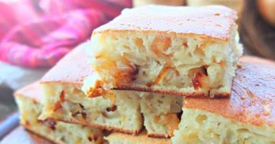 Цибулевий пиріг на сковороді