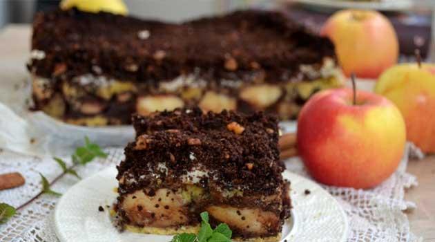 Яблучний пиріг із какао