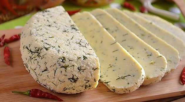 Домашній сир із молока і сметани