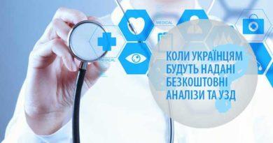 Коли українцям будуть надані безкоштовні аналізи та УЗД