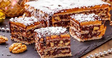 Швидкий вафельний торт Грильяж