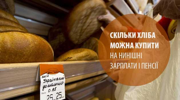 Скільки хліба можна купити на нинішні зарплати і пенсії