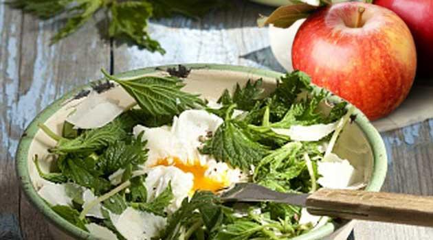 Салат з кропивою та яблуками