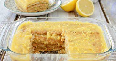Лимонний торт без випічки