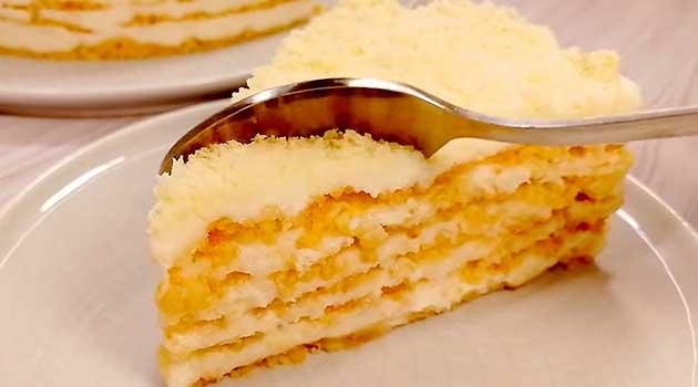 Пломбірний торт