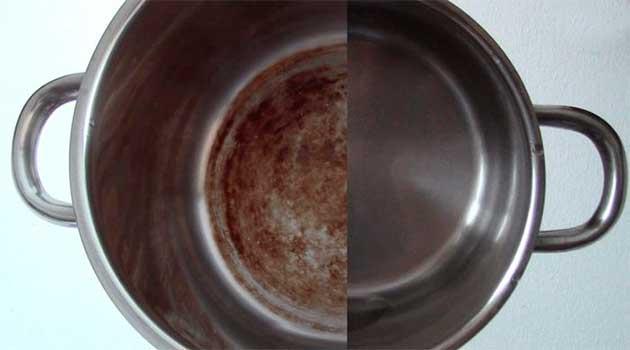 Як почистити каструлю