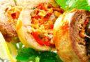 Скумбрія з овочами у вигляді рулету