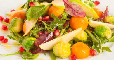 Святковий салат із гранатом