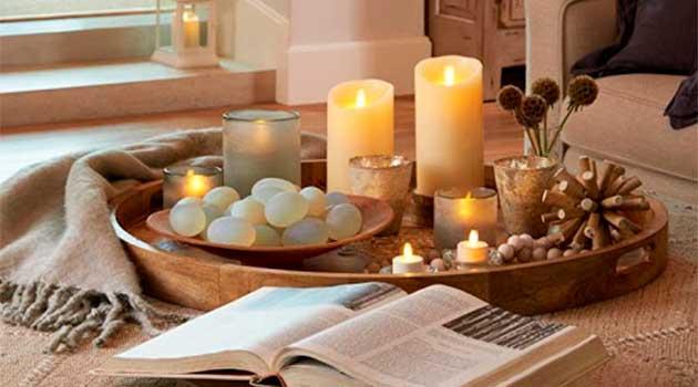 Декоративні свічки в інтер'єрі