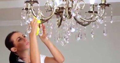 Як помити кришталеву люстру