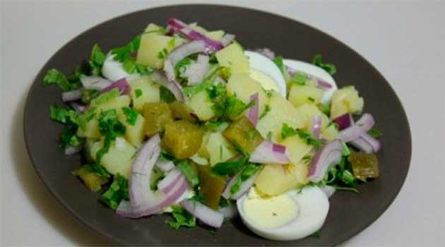 Картопляний салат зі щавлю