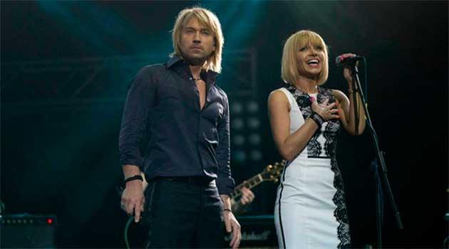 Олег Винник з дружиною Таїсією