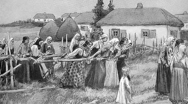 Обряд оборювання села