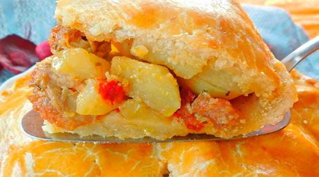 Пиріг із картоплею по-італійськи