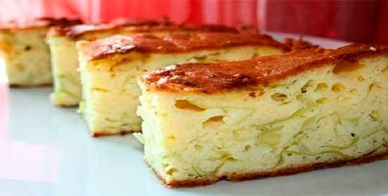 Лінивий пиріг з капусти
